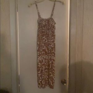 Women's Brown and beige printed dress size L